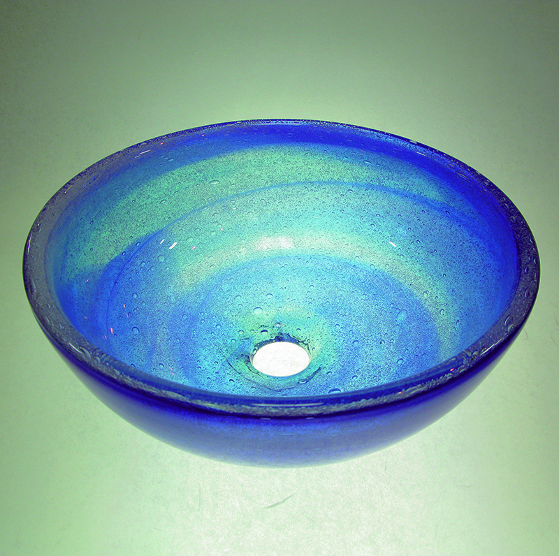 琉球ガラスの洗面ボウル2