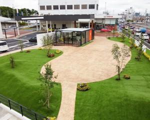 デザインクリートの庭 カフェ