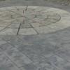 サークルの石とデザインクリートの組み合わせました。