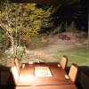 テーブル席中央には囲炉裏が切ってあります。