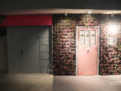 隠れ家的雰囲気の美容室 cote アンティークで壁面緑化の特徴
